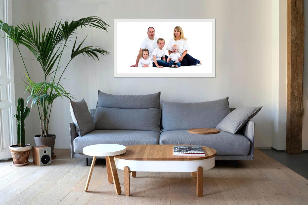 Family Framed Single White