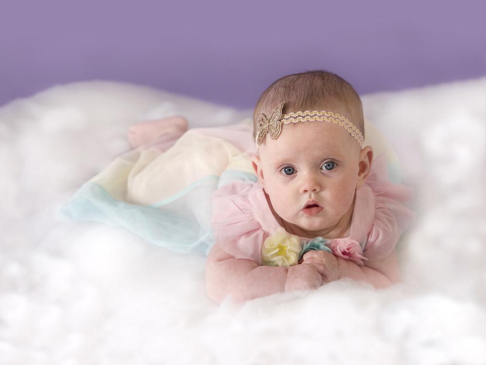 6 month old baby Girls Studio Shoot